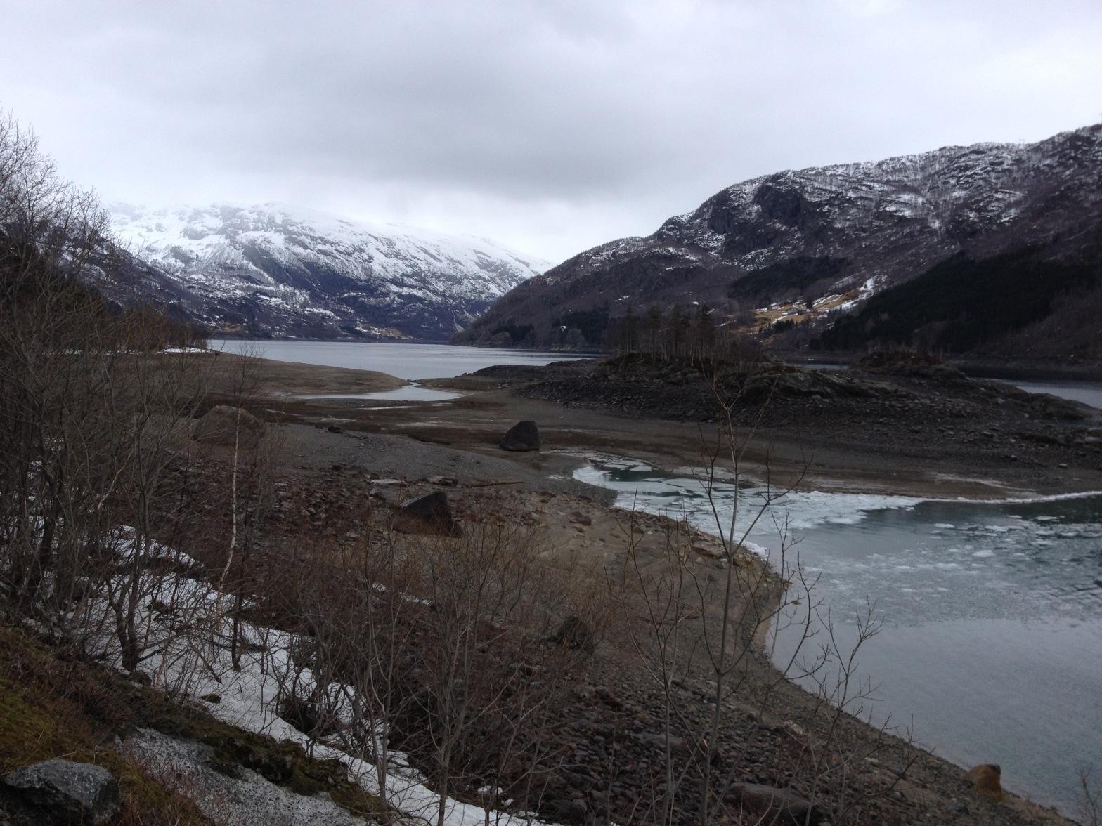 Holmane om Våren (Røldalsvatnet)